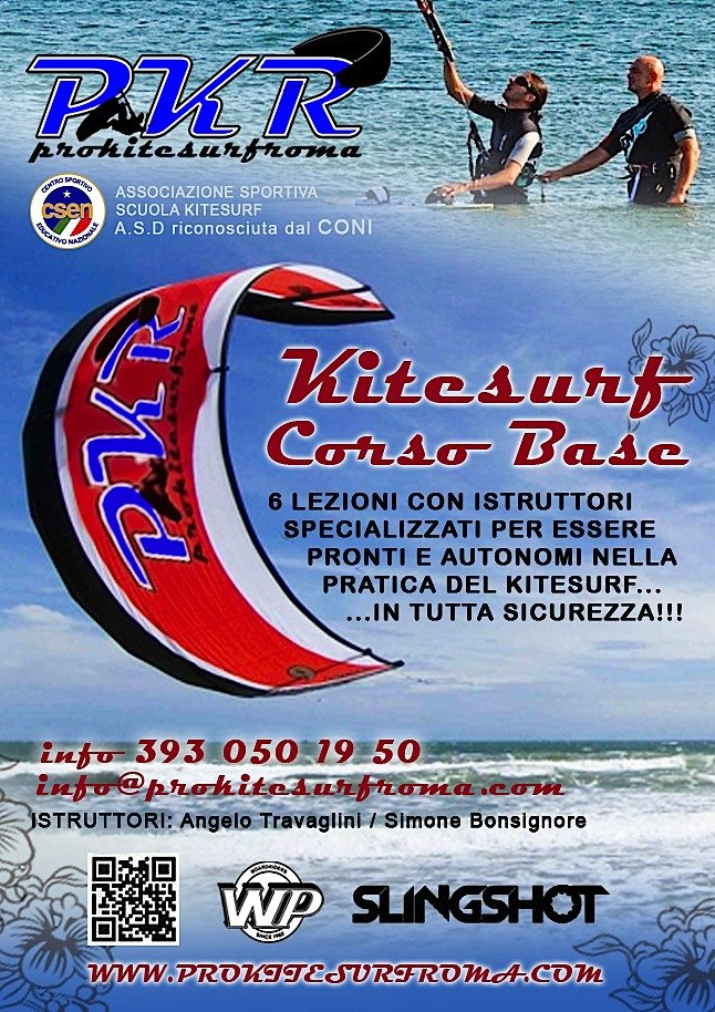 volantino corsi pro kitesurf roma