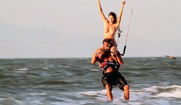 video kitesurfing
