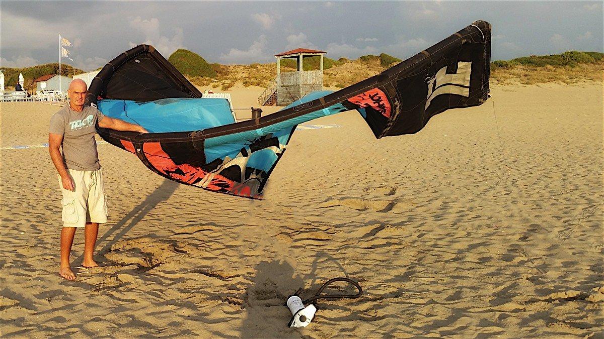 giusta pressione del kite surf