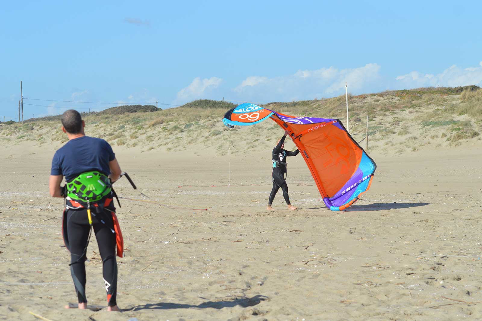 lancio kite decollo