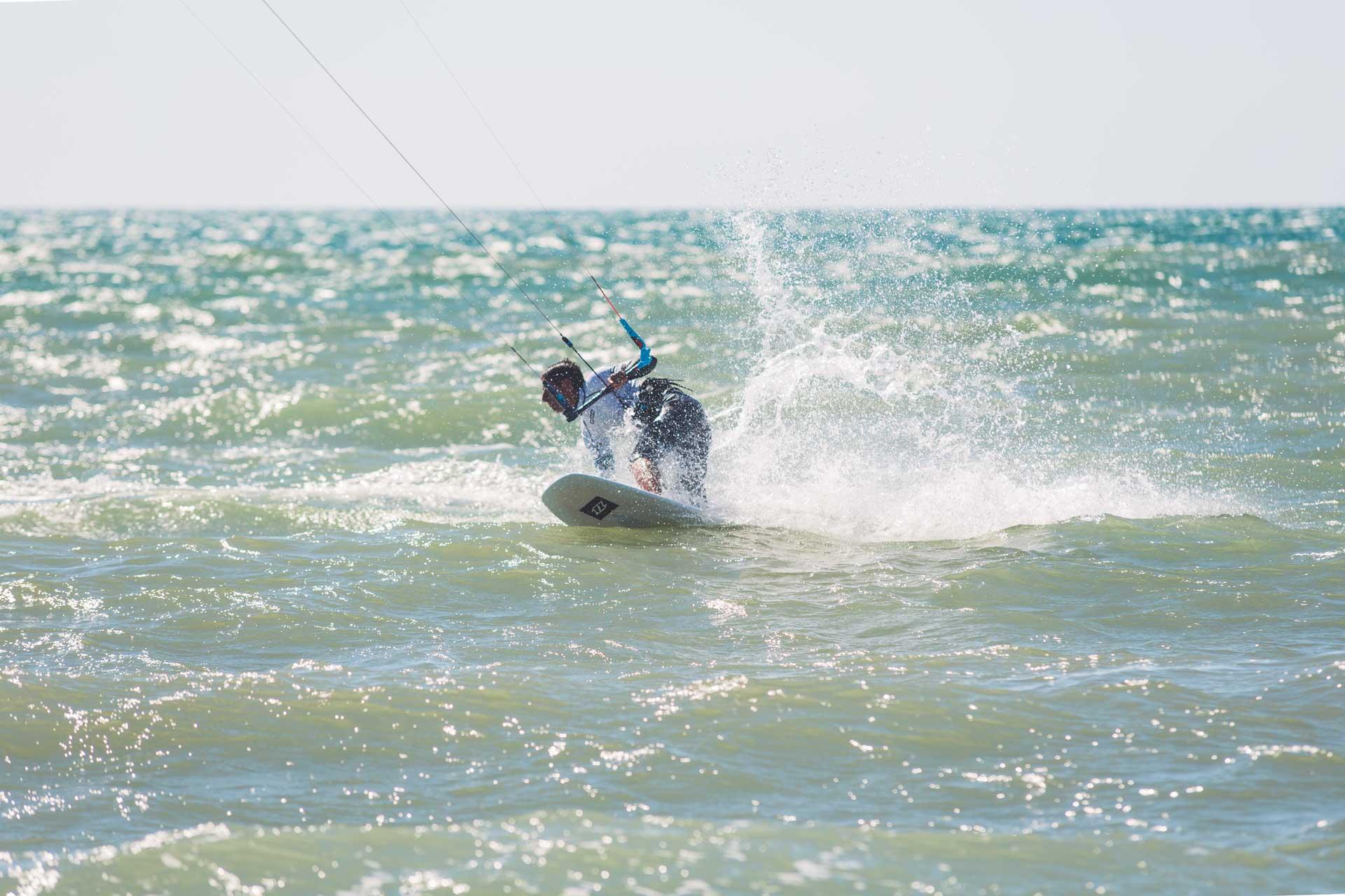 Kitesurf freestyle strapless
