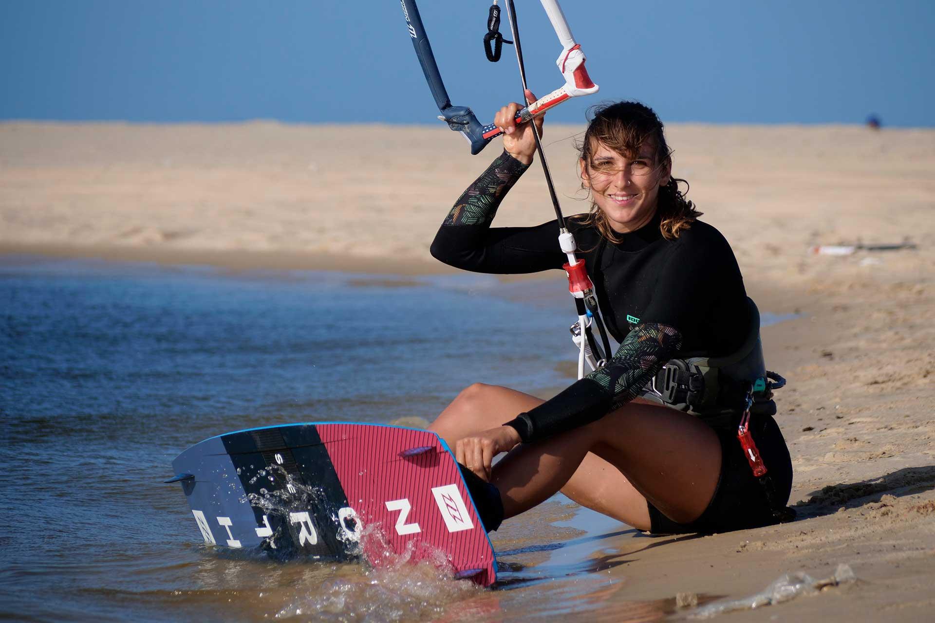 Francesca Bagnoli kitesurf