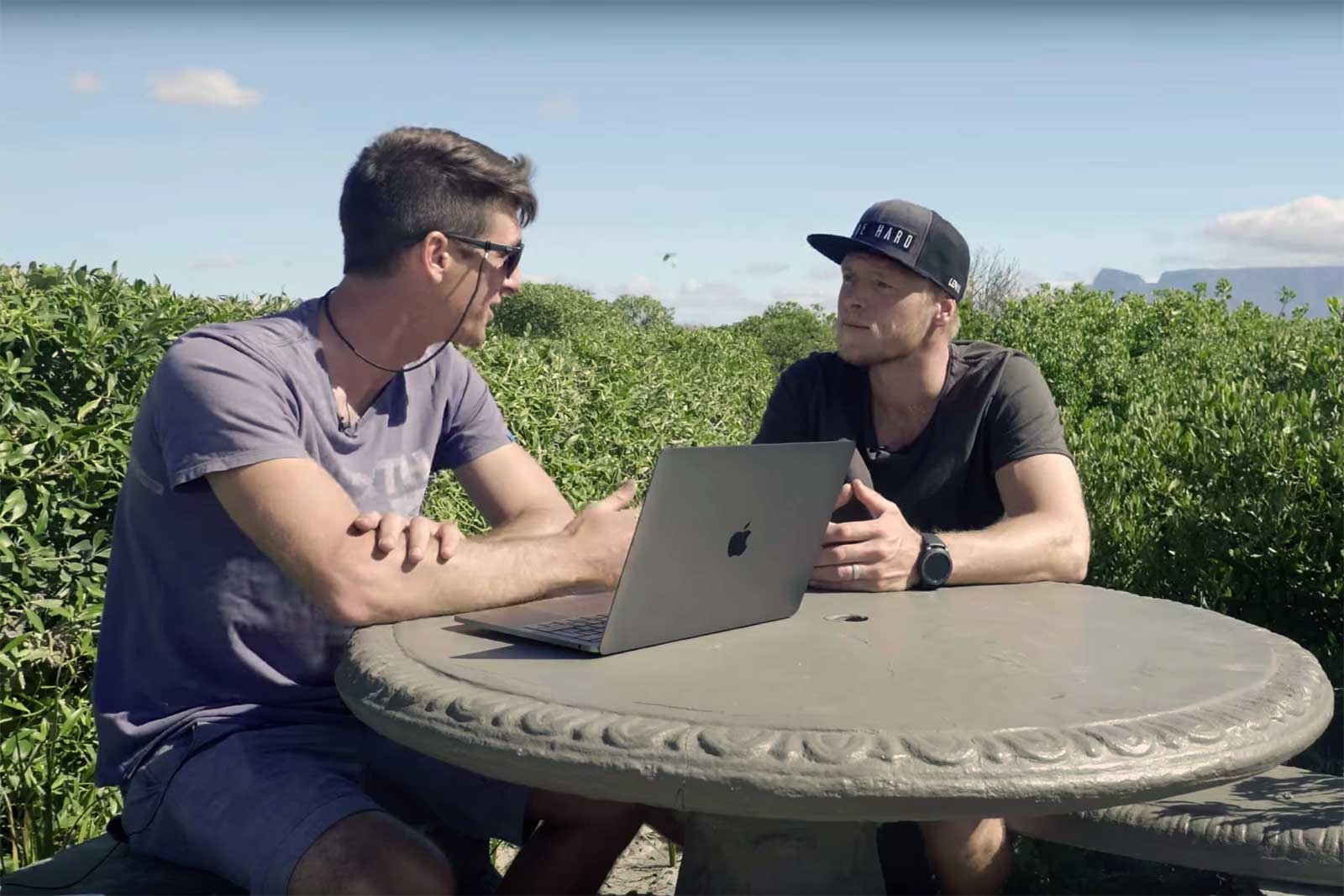 Aaron Hadlow video blog kite surf