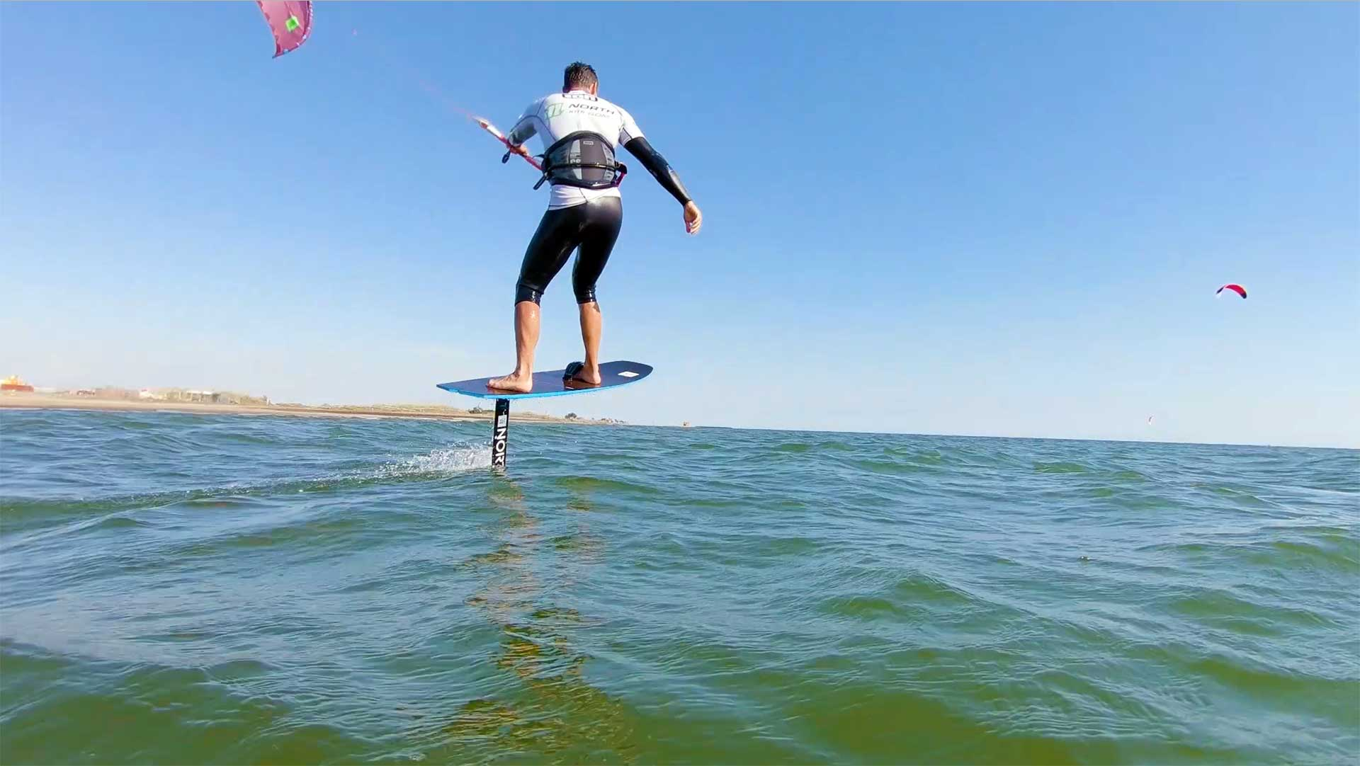 kite surf foil session