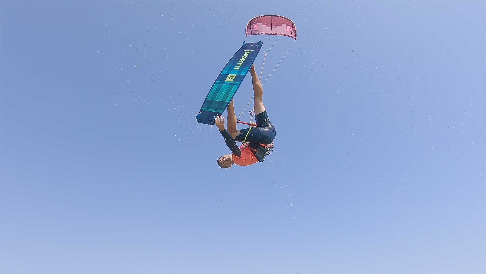 Kitesurf freestyle air games