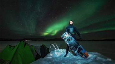 Kitesurf a Capo Nord, Norvegia – Impresa di Kevin Langeree