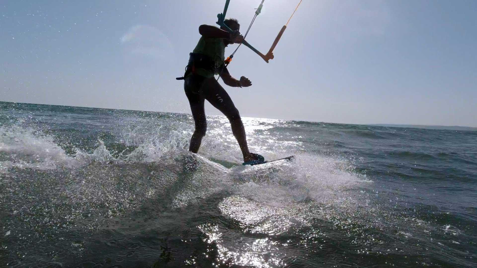 Cambio mura tavola twin tip kitesurf tutorial strambata