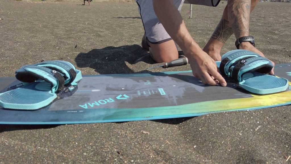 Posizione-Pad-tavola-twin-tip-kite