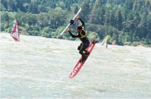 Inizi del kitesurf