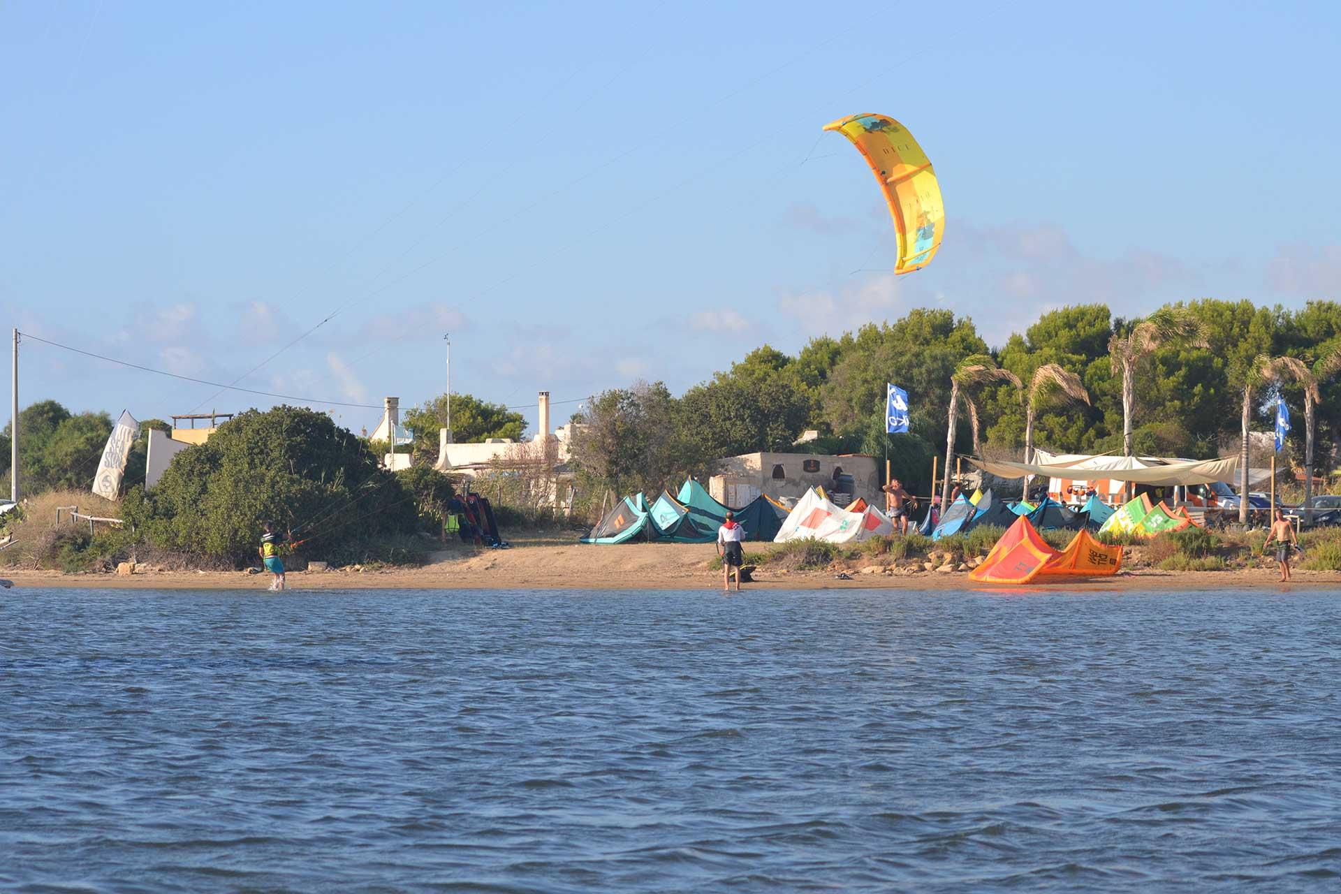 Kitesurf Stagnone kite beach