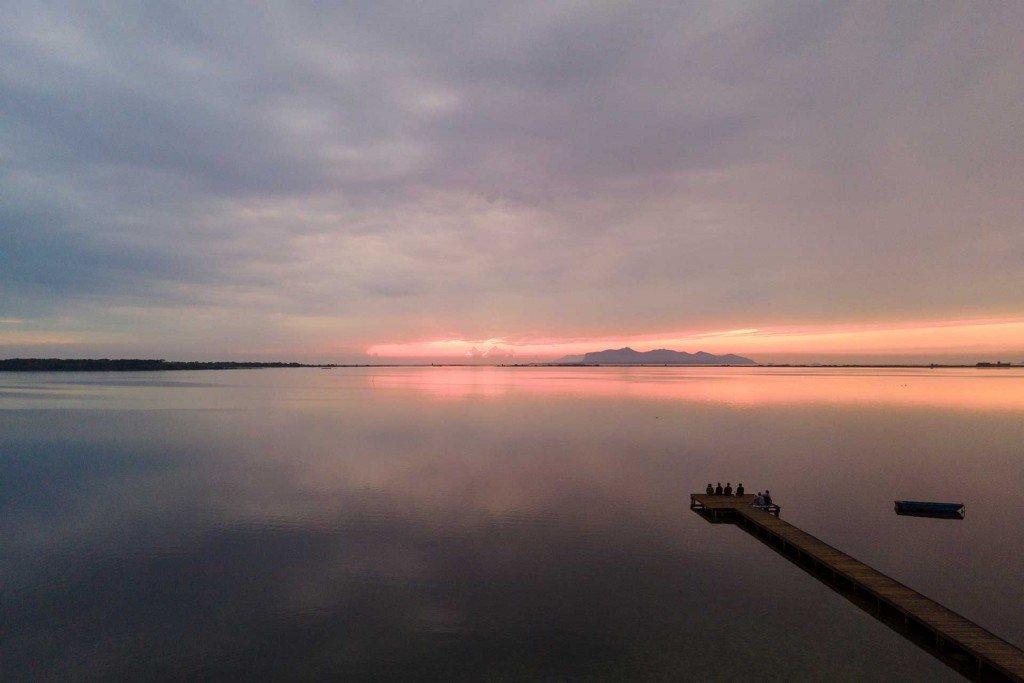 Tramonto laguna dello Stagnone